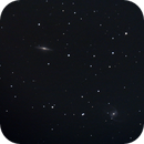 NGC5905 and NGC5908 - edge on and face on,                                lowenthalm