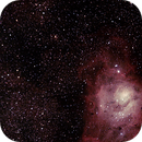 M20 The Trifid Nebula with M8 The Lagoon,                                LacailleOz