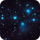 M45, the Pleiades. Wide field,                                nhw512