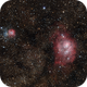Nebulosa Trifida y Laguna,                                Andrés González