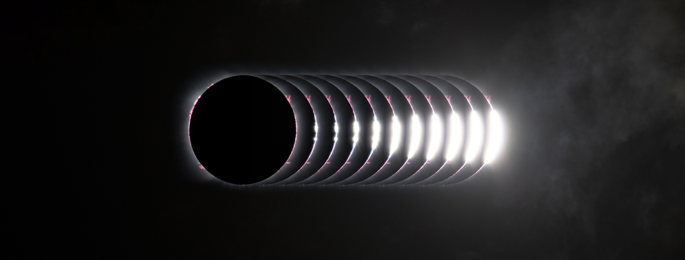 Baily's Bead before C2, 14th December 2020 total solar eclipse,                                Vincent Bchm