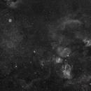 Sh2-170 Small Rosetta-N., Abell85 (CTB1, LBN576), M52, NGC7635 Bubble-N., Sh2-157 Lobster-N., Sh2-161, Sh2-155 Cave-N. in Ha,                                Rolf Dietrich