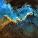 Cygnus Wall - Hubble Palette,                                Chuck's Astrophotography