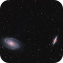 M81 and M82,                                starfield