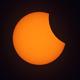 Sunspots and Lunar Disc,                                Ken Sharp