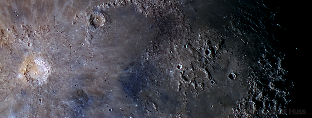 Moonscape featuring the Mare Imbrium and Copernicus,                                Manuel Huss