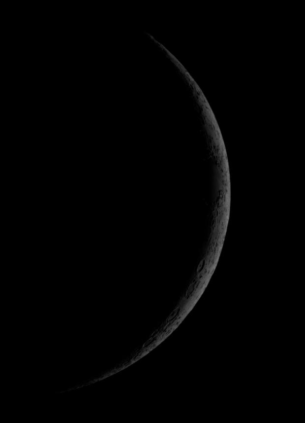 2 days old Moon, 25th April 2020,                                xb39