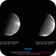 Venus UV images captured a day apart,                                Niall MacNeill