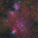 IC 4685 Catcher's Mitt Nebula,  IC 1274, IC 1275, NGC 6559,                                Jerry Macon