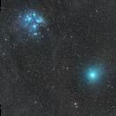 Comet 46P and the Pleiades - 12/15/2018,                                Jarrett Trezzo
