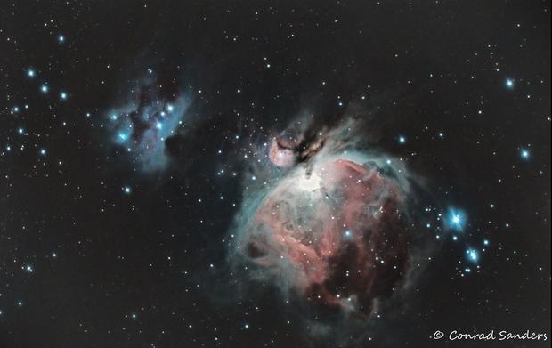 M42 Orion and Running Man Nebulas,                                sandconp