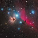 A three panel mosaic - NGC 2024, IC 434 and M42,                                Matthew Sole
