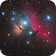 A three panel mosaic - NGC 2024, IC 434 and M42,                                mos_astro