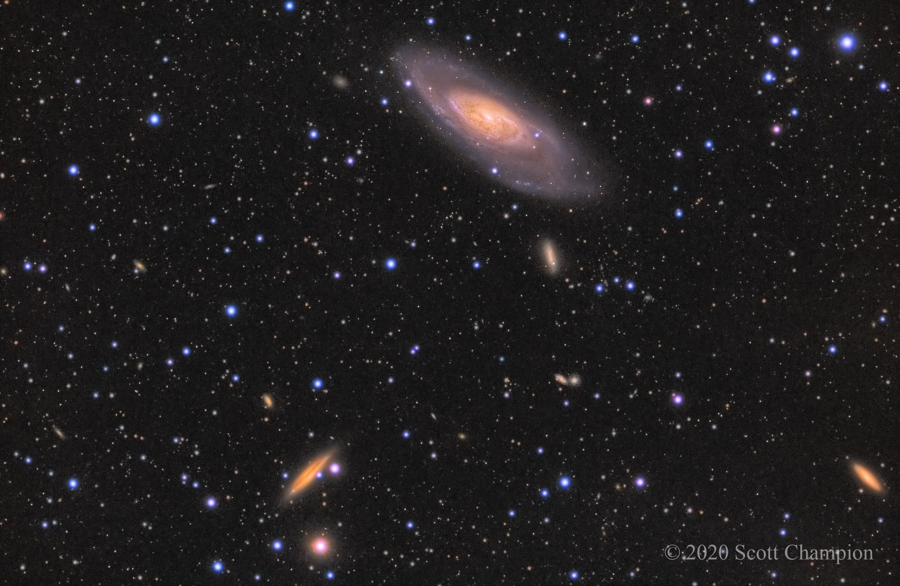 M106 and Friends in LHaRGB,                                Scott