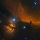 Horsehead Nebula and Flame Nebula in Orion Constellation SHO+RGB,                                Jian Yuan Peng