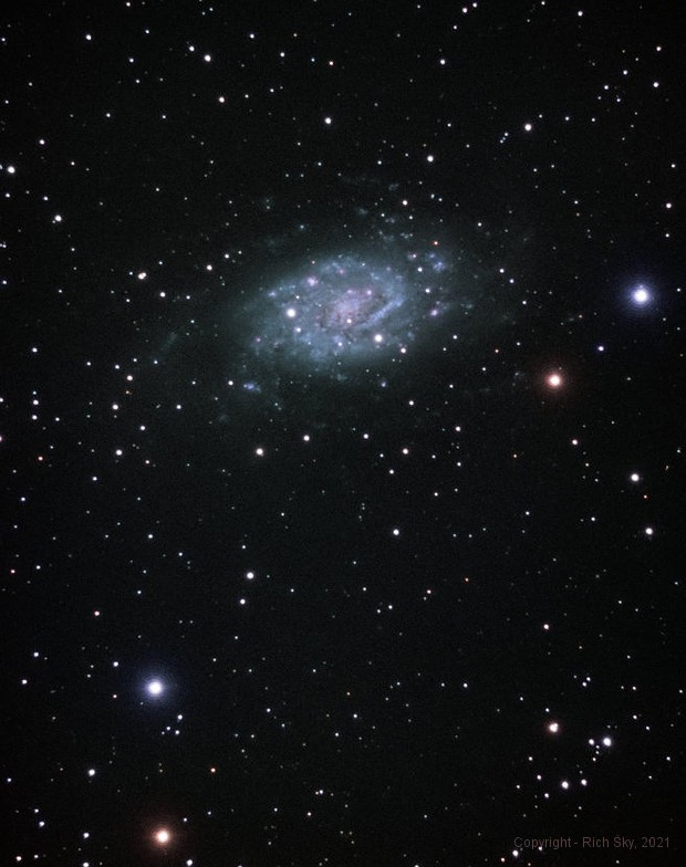 Flocculent Galaxy in Camelopardalis,                                Rich Sky