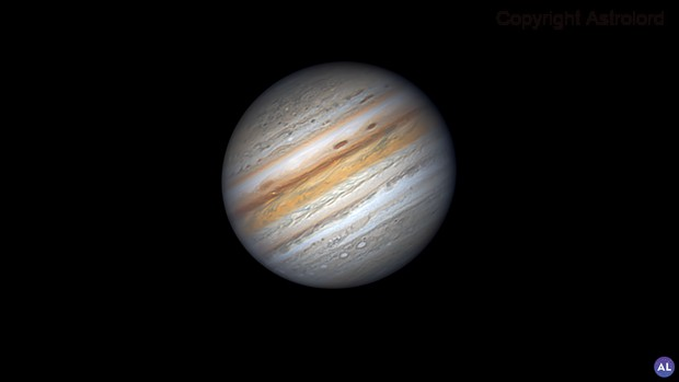 Jupiter with white spots,                                周志伟