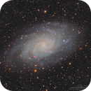 M33 Triangulum Galaxy in L(R+HA)GB,                                Kayron Mercieca