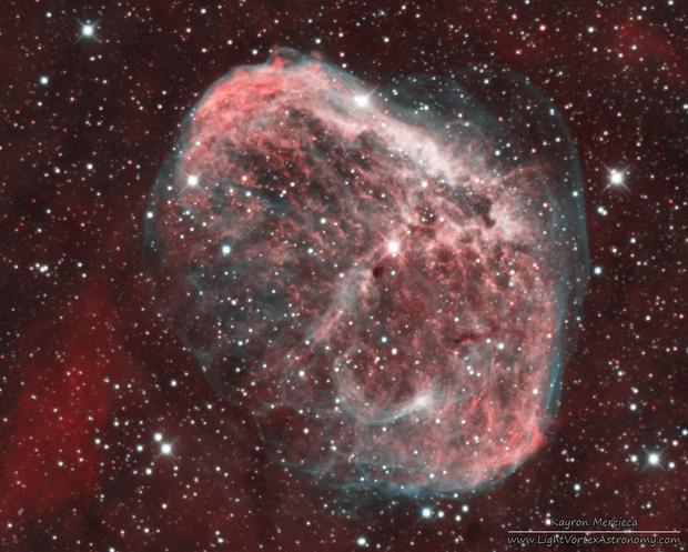 NGC6888 Crescent Nebula in Narrowband Bicolour Palette,                                Kayron Mercieca