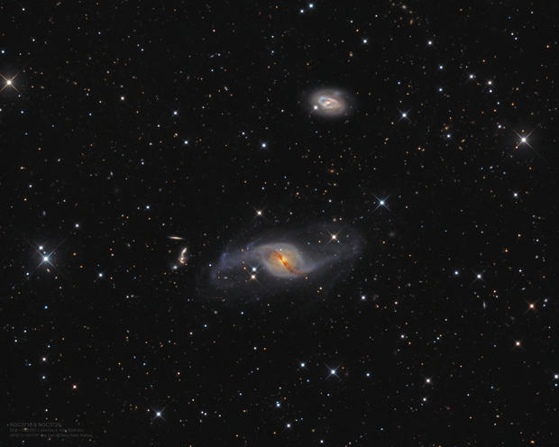 NGC3718 from suburb of Beijing (reprocessed),                                Ray Liao