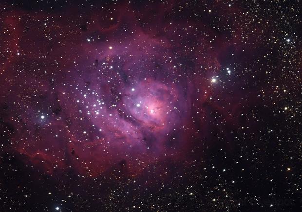 M8, the Lagoon Nebula,                                BlueApoc