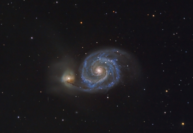 M51 Whirpool Galaxy,                                Gianluca Belgrado
