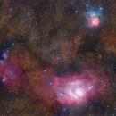Lagoon and Trifid Nebulae,                                Gabriel R. Santos...