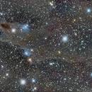 LDN 1235 - Dark Shark Nebula - 2 Panel Mosaic,                                Simon Todd