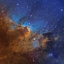 Cave Nebula narrowband,                                julianr