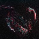 A Study of the Cygnus Loop - Part 1 of 4 - Veil Nebula Wide Angle Mosaic,                                Timothy Martin & Nic Patridge