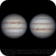 Jupiter 9 Jun 2018 - 6 min derotation,                                Seb Lukas