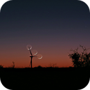 Crescent moon dancing with the windmill,                                J_Pelaez_aab