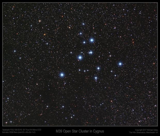 M39 Open Star Cluster in Cygnus,                                Mike Oates