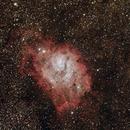 The Lagoon Nebula (M8, Starfest 2013),                                David Stephens