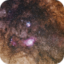 Lagoon and Trifid Nebula (M8 and M20),                                CGPhotography