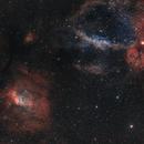 M 52, NGC 7654, Bubble nebula, NGC 7635, NGC 7538, NGC 7510,                                Ola Skarpen SkyEyE
