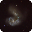 Close up of interacting galaxy pair: Antennae,                                Freestar8n