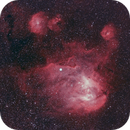 Running Chicken Nebula and Pearl Cluster to the left,                                Gerard O'Born