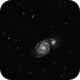 M51 - Whirlpool Galaxy,                                Wilsmaboy