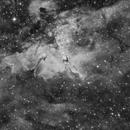 The Eagle Nebula in Ha,                                Scott