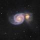 Whirlpool Galaxy M51 in Canes Venatici  - Wide Field,                                Arnaud Peel