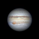Jupiter's GRS casting a flake 2019-05-26 - Darren (DMach's) dataset,                                Niall MacNeill
