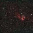 NGC 7380 Wizard Nebula-Ha-HOO-Meade 80 ED triplet-Orion flattener-ASI 1600 MM-Pro,                                Adel Kildeev