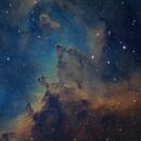 Interstellar Dust in SHO Heart Nebula,                                Barczynski