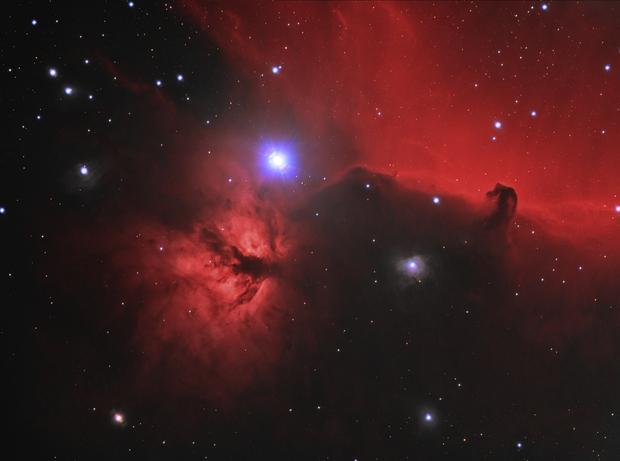 Horsehead and Flame Nebulae (Ha+LRGB),                                Scott Davis