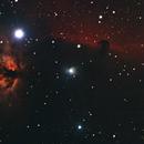 Horsehead and Flame Nebula,                                Jirair Afarian