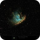 NGC 281 - SH2-184 - Pacman Nebula - reprocessed with (almost) PI only,                                Uwe Deutermann