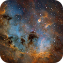 TadPoles Nebula (IC410) close up in SII/Hα/OIII/rgb,                                Jose Carballada