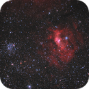 The Bubble Nebula (NGC 7635) and Open Cluster M52 (Ha + RGB),                                Scott Davis