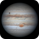 Ganymede and Europa in transit,                                Niall MacNeill
